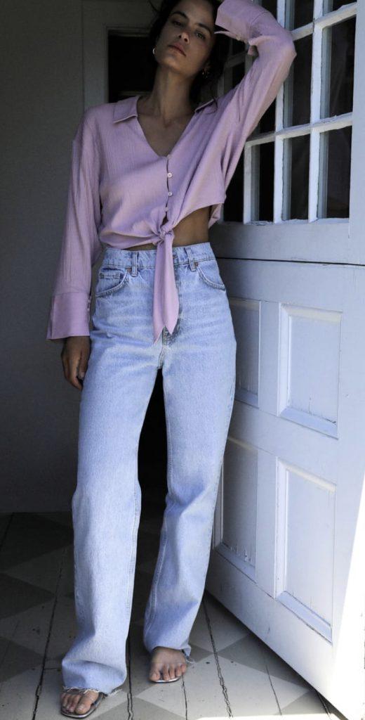 jeans autunno 2020 di zara, anni 90, dritti e lungo sulla gamba